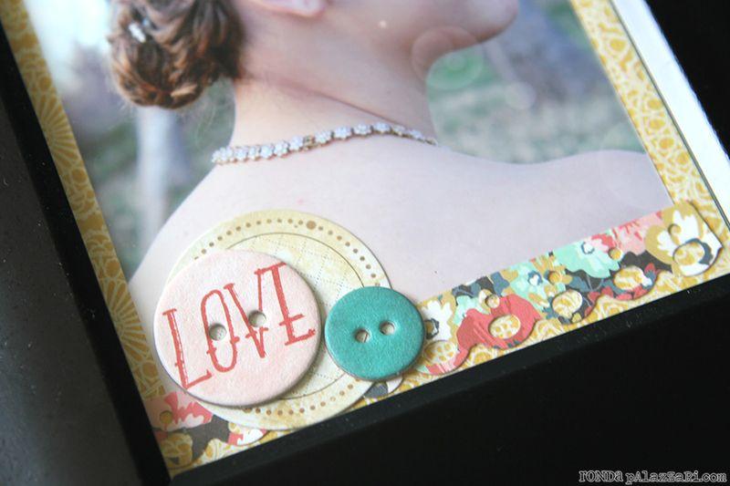 Ronda Palazzari Love Frame details