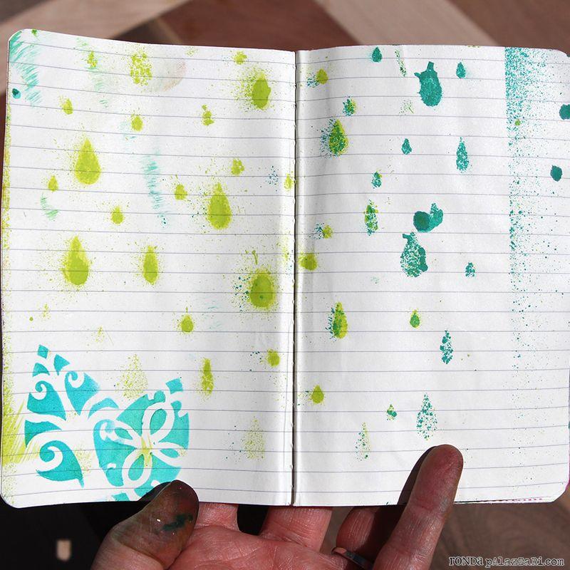 Ronda Palazzari Artsy Travel Mini Album pages 2&3