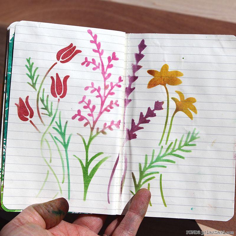 Ronda Palazzari Artsy Travel Mini Album pages 14&15