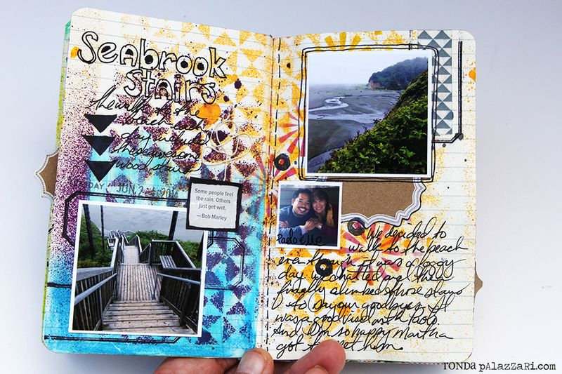 Ronda Palazzari Artsy Mini Album pg 4 -5
