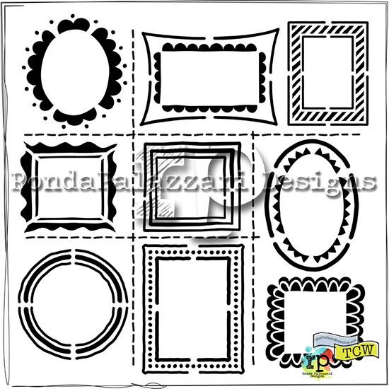 Ronda Palazzari Hand Drawn Frames TCW474