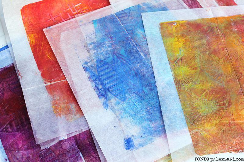 Ronda Palazzari Gelli Prints Deli Paper