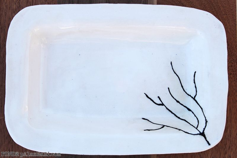 Ronda Palazzari Cheyenne Ceramics Twig Plate