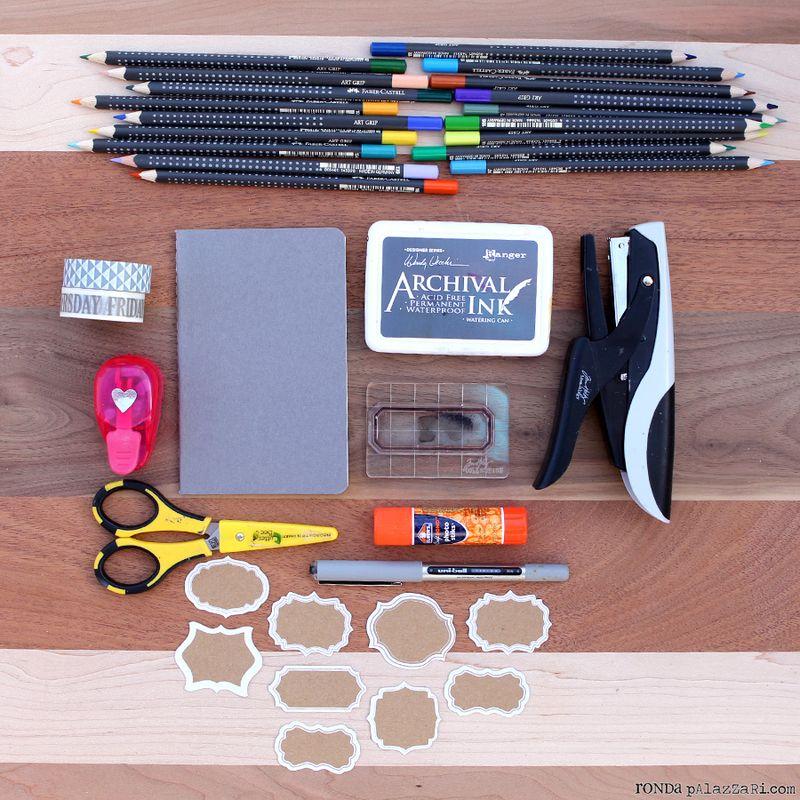 Ronda Palazzari Artsy Travel Mini Album Colored Pencils