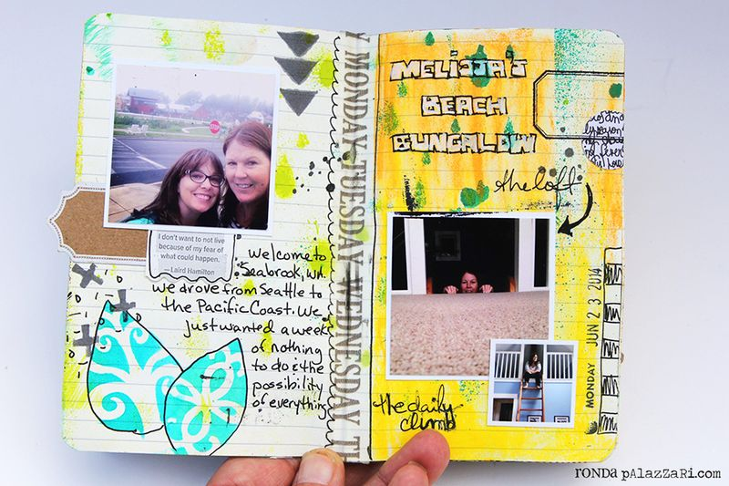 Ronda Palazzari Artsy Mini Album pg 2 -3
