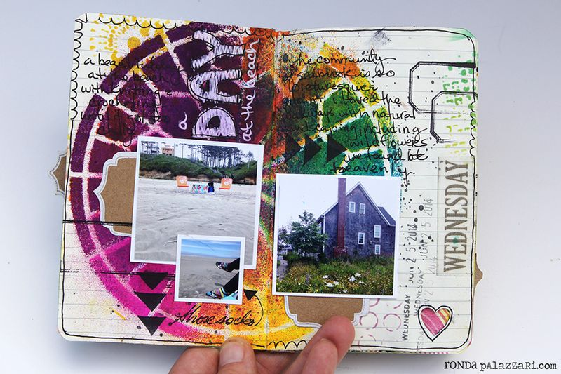 Ronda Palazzari Artsy Mini Album pg 6 -7