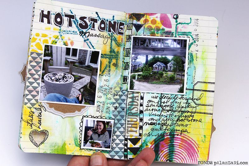 Ronda Palazzari Artsy Mini Album pg 8 -9