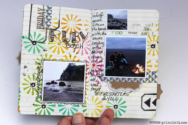 Ronda Palazzari Artsy Mini Album pg 10 - 11