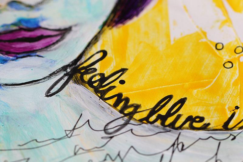 Ronda Palazzari Details feeling Blue