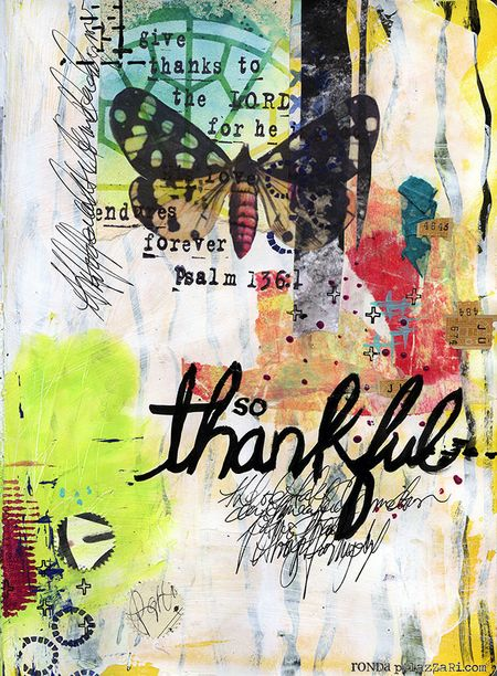 Ronda Palazzari Thankful Art Journal