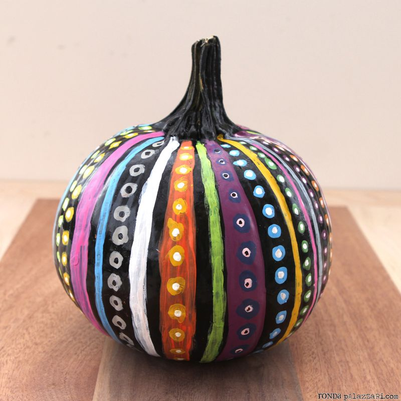Ronda Palazzari Dots & Stripes Pumpkins