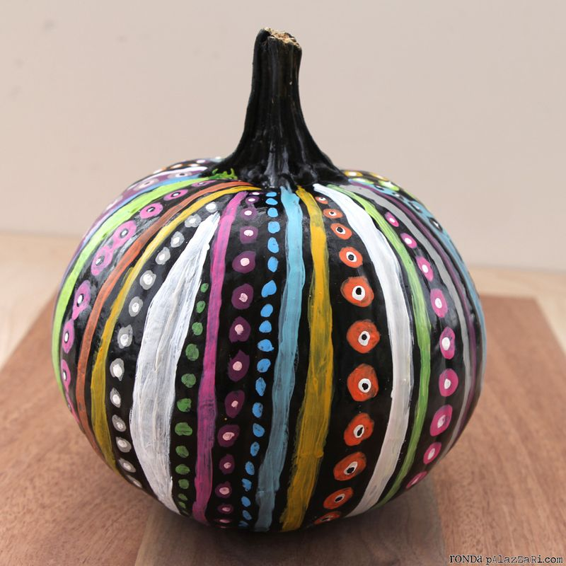 Ronda Palazzari Dots & Stripes Pumpkin 2