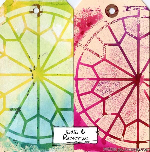 Ronda Palazzari Rose Window 6x6 Stencil