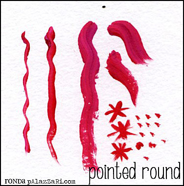 Ronda Palazzari Pointed Round Paintbrush 9