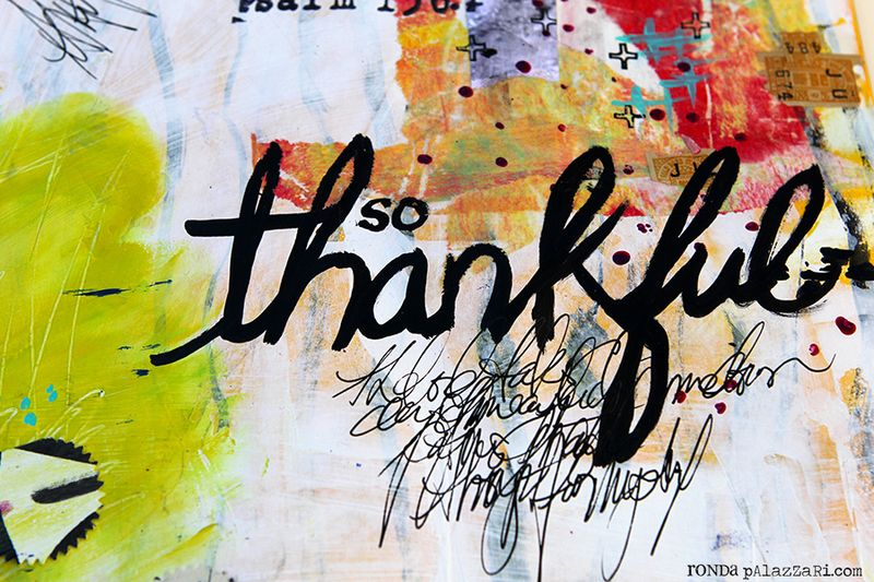 Ronda Palazzari Thankful Art Journal Details 3
