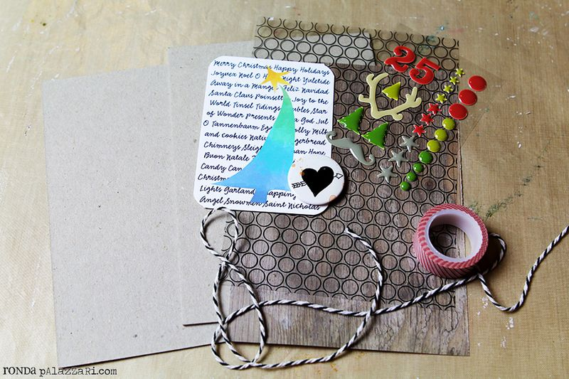 Ronda Palazzari 12 Days Art Journal Album tutorial