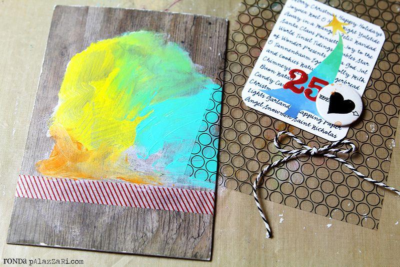 Ronda Palazzari 12 Days Art Journal Album tutorial 3