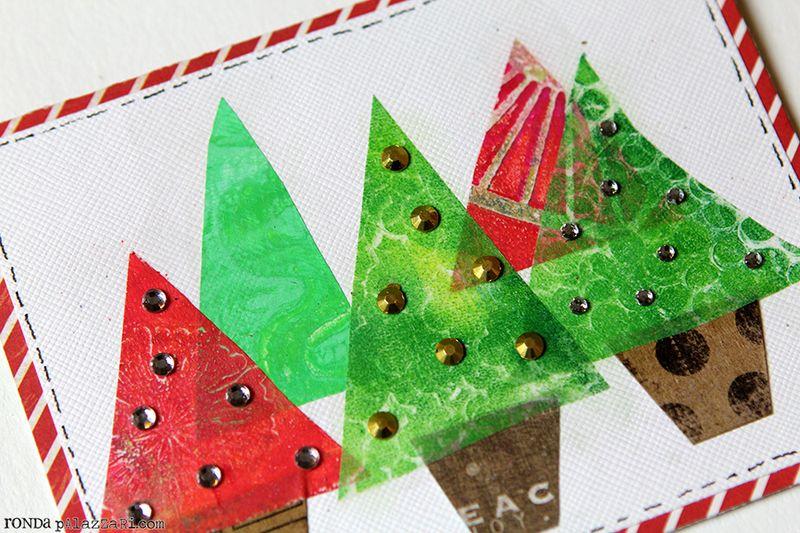 Ronda Palazzari Christmas Trees detail