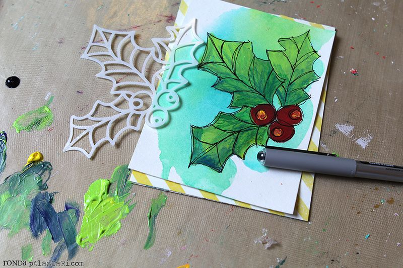 Be Merry Card Tutorial 2