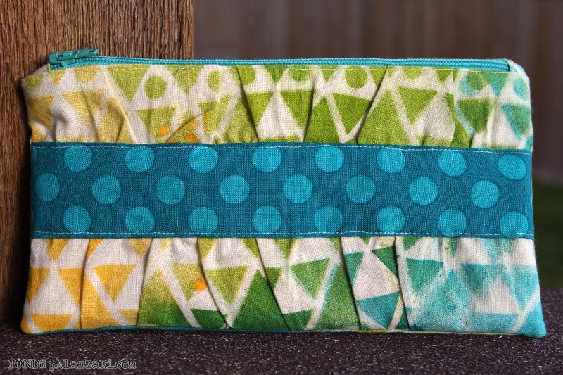 Ronda Palazzari Stitched Hand bag