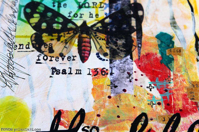 Ronda Palazzari Thankful Art Journal Details 2