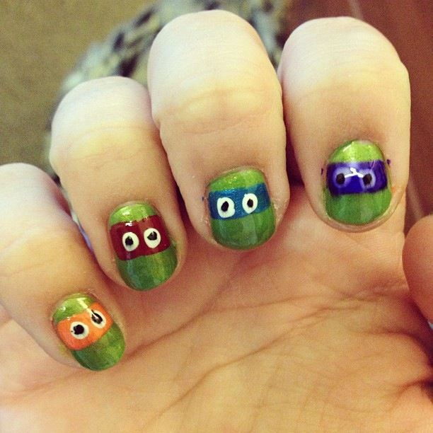 Ronda Palazzari Alexi Nails Ninja Turtles
