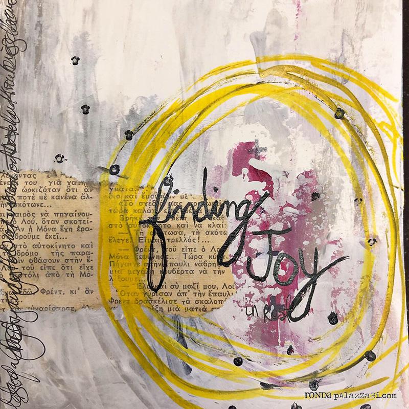 Ronda Palazzari Finding Joy Art Journal