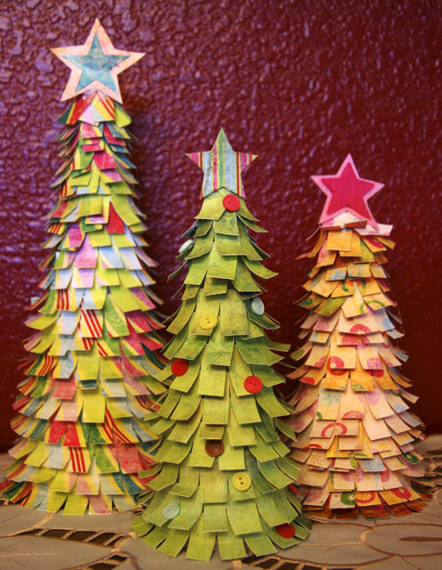 Mixed Media/Paper Crafting: Fancy Trees